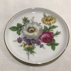 Gorgeous FUERSTENBERG Germany Butter /Pin Dish 10cm Floral Design