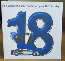 Personalised Hmade Car & Balloons 18th Birthday Card Son Grandson Godson Nephew