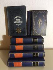 Konvolut 7antiquarische Wörterbücher ab 1911 russisch dänisch franz. lat. engl.