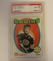 1971 Topps Phil Esposito Boston Bruins  #20 PSA 8 NM-MT