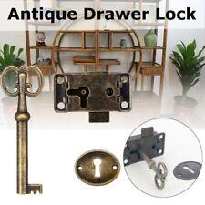 Antique Drawer Box Cabinet Door Lock  Makeup Case Furniture Door  Drawer  Locks