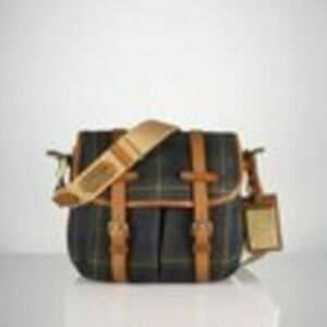 BNWT Ralph Lauren Small Canvas Saranac Cross Body Tartan Bag