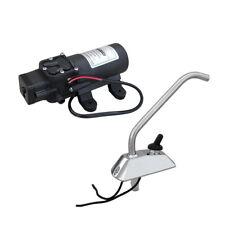 12V DC Diaphragm High Pressure Water Pump+Faucet  Self-priming 4.5LPM RV Camping