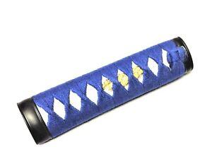 """6"""" Dark Blue cotton Wakizashi tsuka iaito katana shinken iaido japanese sword"""