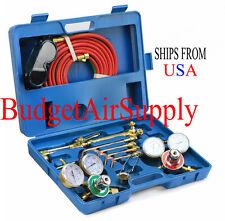 Victor Type Welding Torch Cutting Kit w Oxygen Acetylene-Regulators and Case