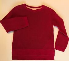 JIGSAW JUNIOR GIRLS RIBBED LONG SLEEVE JUMPER BERRY AGE 6-7 YEARS NEW