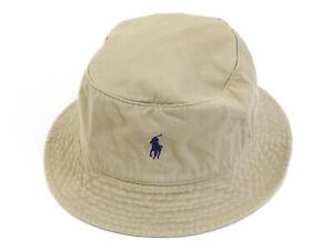 Polo Ralph Lauren Solid Safari Bucket Hat Cap - Khaki S/M -