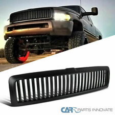 94-01 Dodge Ram 1500 Matte Black ABS Vertical Bar Hood Grille Grill