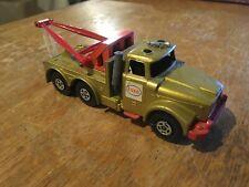 Vintage Matchbox Super Kings Scammel Heavy Wreck Truck K2 Esso Gold
