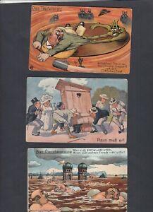 3 AK, München  Oktoberfest, ca. 1920-1925, Oktoberfest-Humor , Bayern