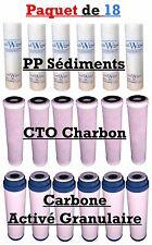 Filtres de remplacement du système de filtrage d'eau à l'osmose inverse x 18