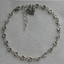 Tibetan Silver Daisy Chain Flower Anklet / Ankle Charming Bracelet Personalise