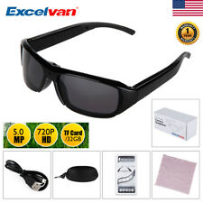720P HD Hidden Mini Camera Glasses Spy Eyewear DVR Video Recorder TF Sunglasses