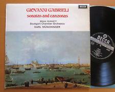 SXL 6441 WB Giovanni Gabrieli Sonatas & Canzonas Karl Munchinger Decca Wideband