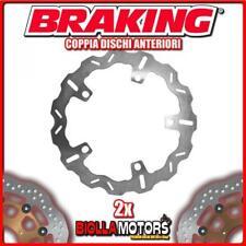 2-WH7004 COPPIA DISCHI FRENO ANTERIORE DX + SX BRAKING BMW R 1150 R 1150cc 2001-