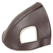 Tough-1 Leather Head Bumper Protects Horse during Travel and Shipping Brown