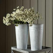 New listing Galvanized Fluted Bucket Antiqued Garden Planter French Country Industrial Sg