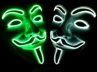 EL MASK V for Cosplay Costume Guy Fawkes Anonymous Mask for Halloween Props New