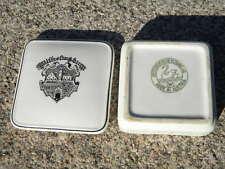 FAHNE WILHELMSBURG DECKELDOSE Österreich. Keramik Wilhelmsburger Lilienporzellan