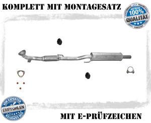 Mittelschalldämpfer VW Polo 9N 6R, Fox 1.2 Bj.05-14 Auspuff Flexrohr Montagesatz