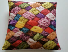 Cushion Cover Wool Effect Great Vibrant Colours - Crochet Great Present