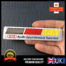 AUDI S LINE SPORTS GERMANY TURBO TEAM GOH 3D BADGE TT S5 S4 A3 A8 TDI Q7 RS PART