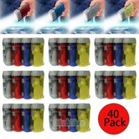 Lot of 40 Hand Crank All-Purpose 3-LED Flashlight w/ Squeeze Powered Recharge US