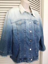 CHICO'S Ombre Denim Jacket - NEW Size 1 (4-6)