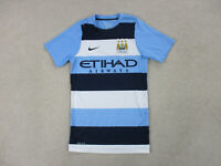 Nike Manchester City Soccer Jersey Adult Extra Small Blue Futbol Dri Fit Mens