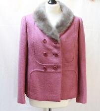 Superbe veste vintage en laine rose t. 38 / 40