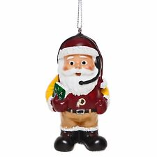 Washington Redskins Coach Santa Resin Holiday Christmas Tree Ornament New