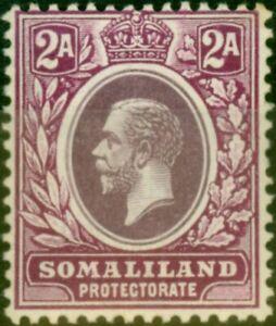 Somaliland 1919 2a Dull Purple & Violet-Purple SG62a Fine Lightly Mtd Mint