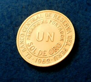 1962 Peru Sol - Fantastic Coin with Double Strike Error on 2 in Date - See PICS