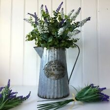 Large Vintage Style Metal Jug Vase Flower Wedding Display French Shabby Chic