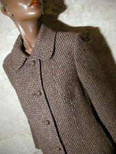 CHIC VINTAGE MANTEAU LAINE 1970 TRUE VTG COAT 70s MANTEL 70er CAPPOTTO ( 40/42 )