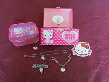 Hello kitty music box kids jewlery lot & accesories