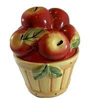 Basket Of Apples Cookie Jar Ceramic Canister Susan Winget Cracker Barrel