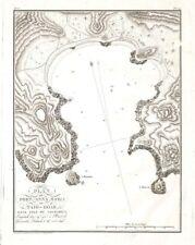POLYNESIE NUKU HIVA TAIOHAE PORT ANNA MARIA CARTE GEOGRAPHIQUE MAP KARTE 1821