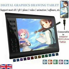 More details for digital graphics drawing tablet pad usb 8192 levels art painting monitor laser