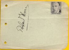 Y-ROLAND YOUNG autographed album page with COA