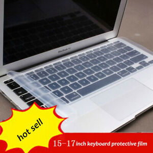 """Waterproof Universal Silicone Laptop Keyboard Skin Protector Cover for 15"""" 17"""""""