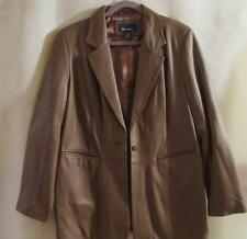 DENIM & Co.~ Light Brown/Tan~100% Genuine Leather Jacket~Large~NEW WITHOUT TAGS