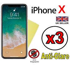3x Hq Matte Anti Reflet Écran Housse Protection Film Pour Apple iPhone X