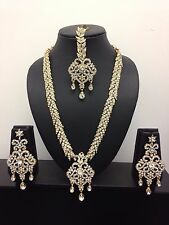 Latest Bollywood Indian Bridal Wedding Party Necklace Earrings Jewellery Set -F2