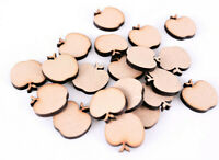 25 x Wooden MDF Apple Shapes Apples for Craft Teacher Plaques Mini Confetti