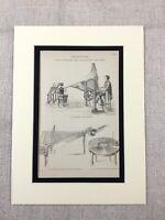 1880 Stampa Vittoriano Musica Macchina Composizione Invention Antico Originale