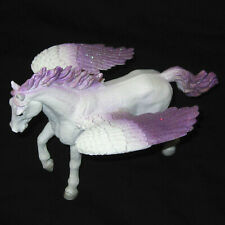 2014 Mojo White & Purple Glittery Pegasus Horse Toy Figurine with Wings