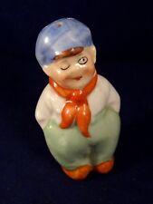 Ancien objet cuisine salière poulbot Gavroche hollandais porcelaine années 30