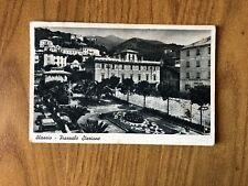 CARTOLINA ALASSIO PIAZZALE STAZIONE VIAGGIATA 1947 SUBALPINA WW
