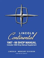1967 - 1968 Lincoln Continental Shop Manual